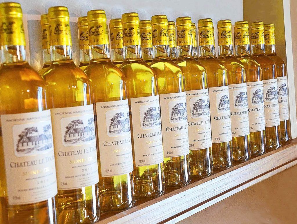 bouteilles de vins Montbazillac vin moelleux