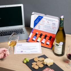 Dégustation de vin en ligne...